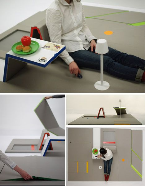 A pizza box that folds out into a desk? Flat-pack furniture is incredibly clever, saves space, cuts shipping waste and is fun to put together.