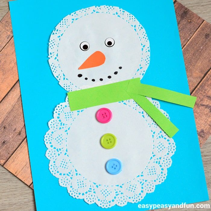 Need a quick and simple winter craft? You'll love this doily snowman craft idea. This is a great craft for toddlers, preschool and kindergarten and each age group will have it's own artistic take on it. *this post contains affiliate links* Doily Snowman Craft What you need doilies – same size or different sizes buttons …