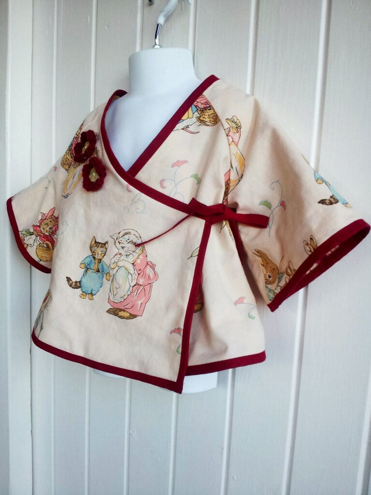 Junk Monkies...I make a lot of things out of vintage fabrics like this Beatrix potter.