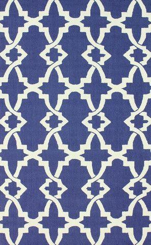 Brandon 100% Wool Area Rug in Royal Blue design by NuLoom