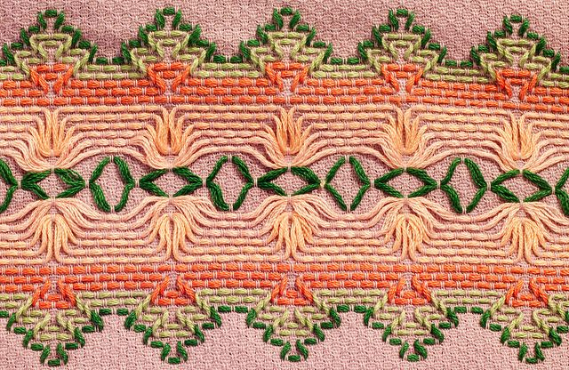 Huck embroidery