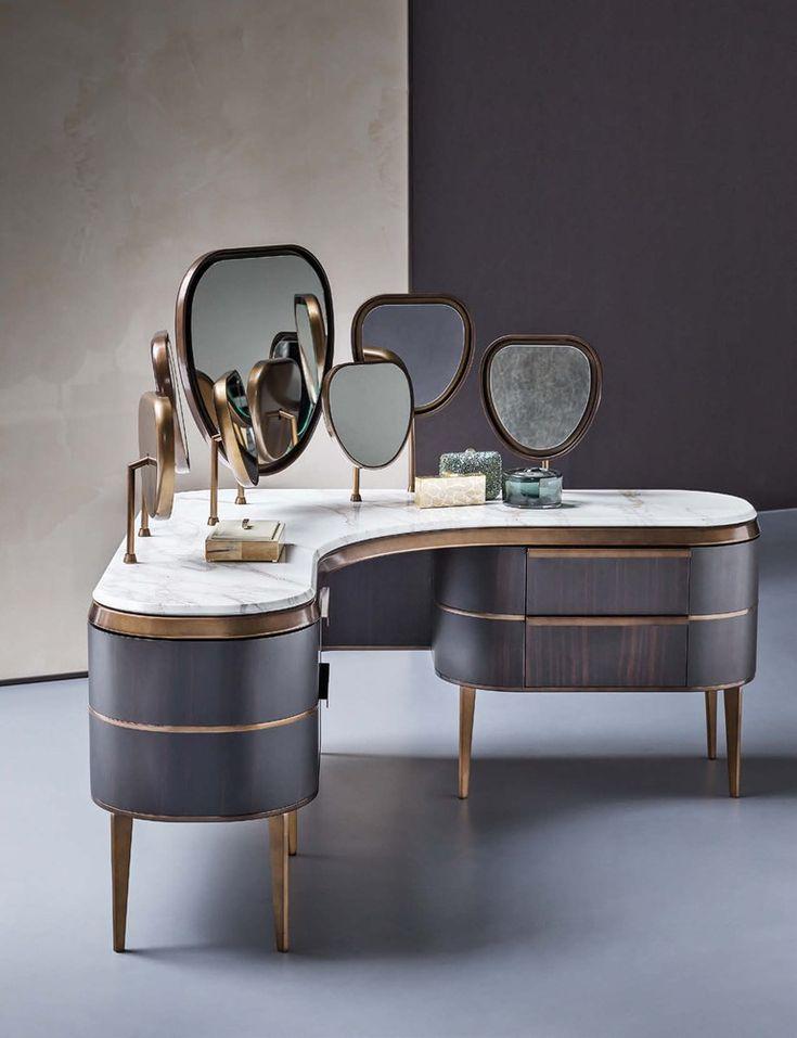 Wooden dressing table KARA | Dressing table - Natevo