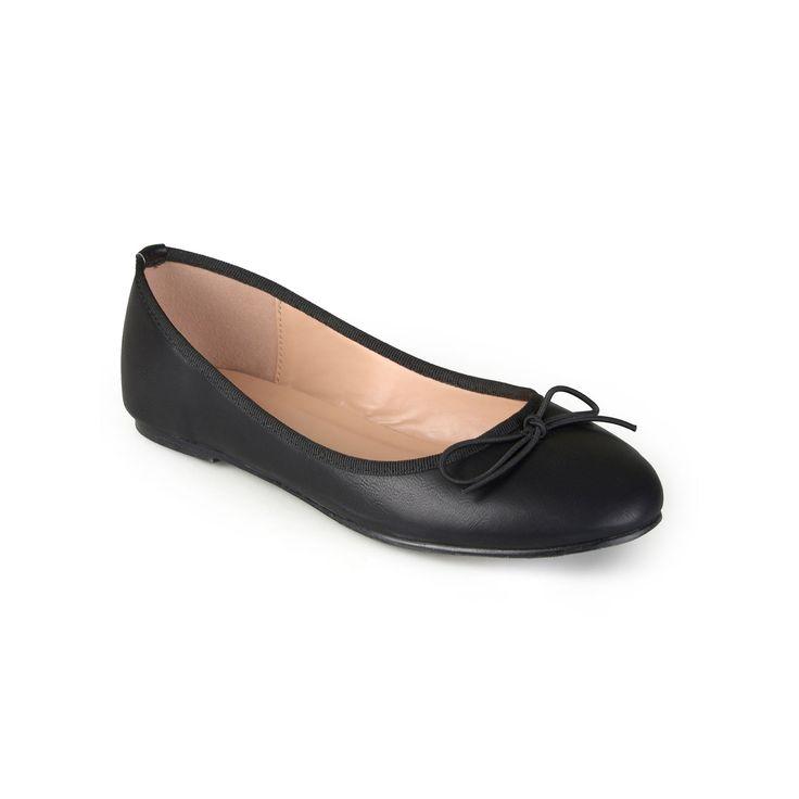 Journee Collection Vika Women's Ballet Flats, Teens, Size: medium (7.5), Black