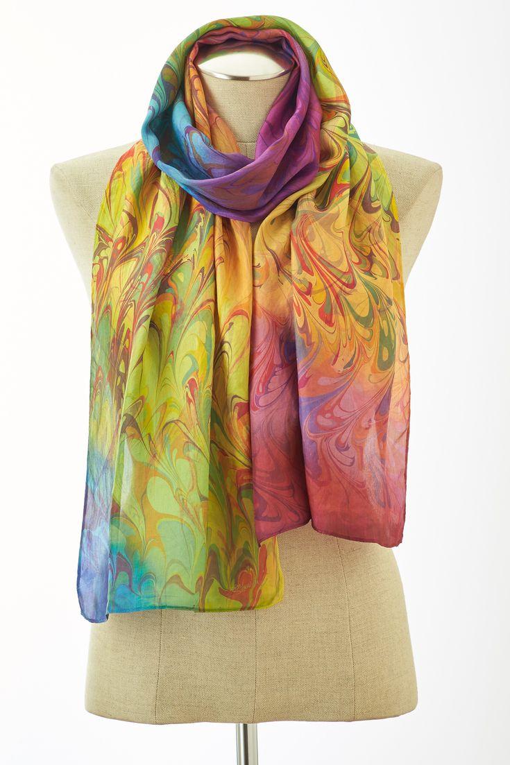 Cashmere Silk Scarf - Water Swirls by VIDA VIDA ICyROl6iA2