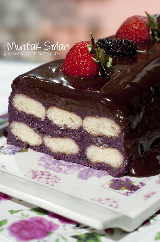 İrmik Tatlısı (Bisküvili  Karadutlu) Tarifi | Mutfak Sırları - Yemek Tarifleri