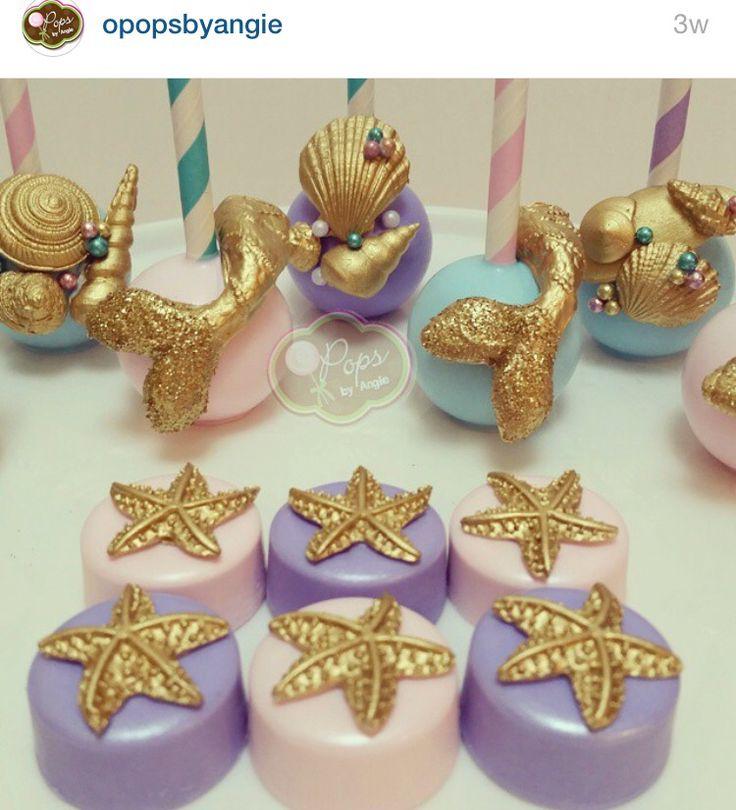 Little Mermaid Cake Pops   Under the Sea Theme   #OpopsByAngie