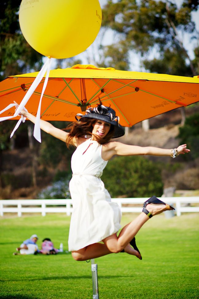 Veuve Clicquot polo match Will Rogers State Park Balloon los angeles