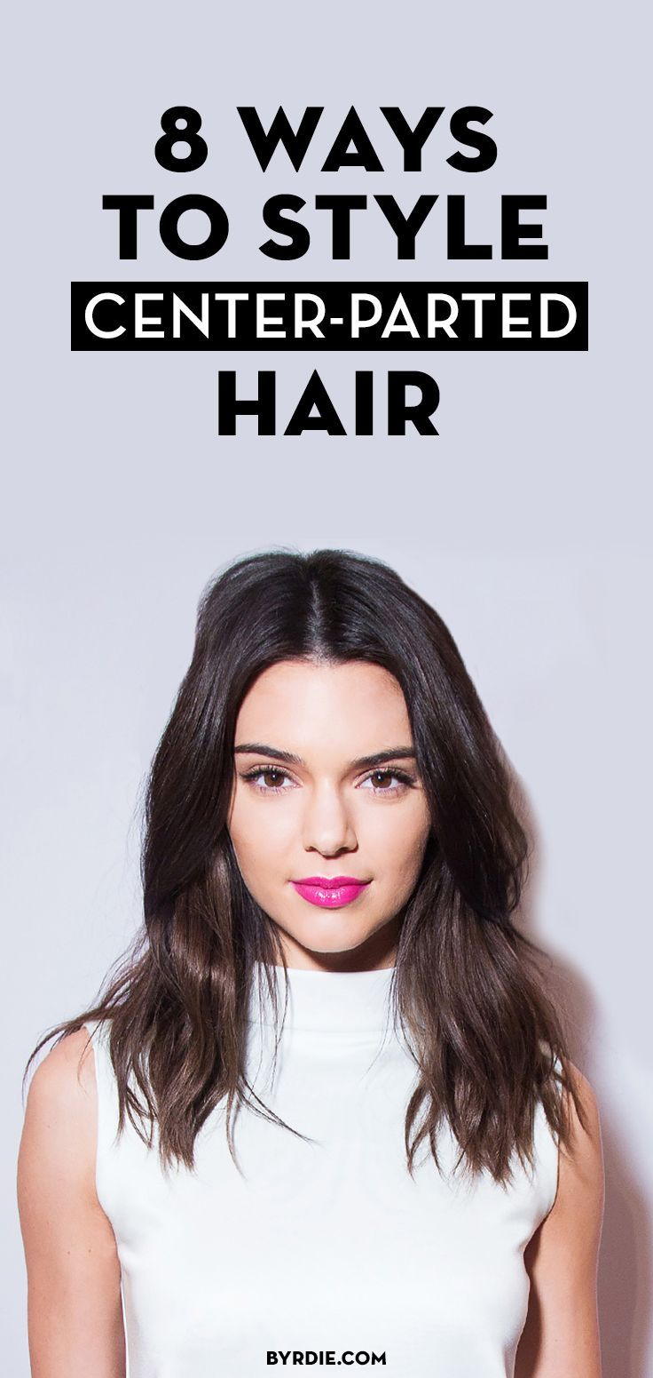 How to style center-parted hair like Kendall Jenner's