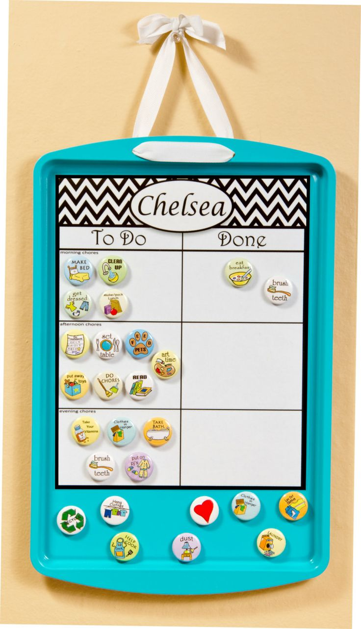 chore chart magnetic upcycled personalized by