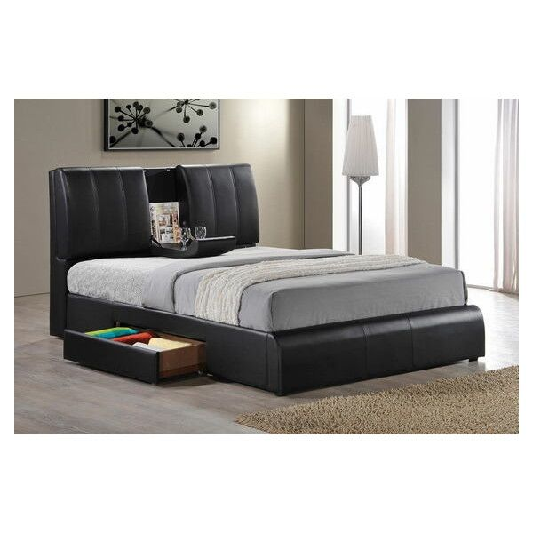 kofi black leather like vinyl modern style queen bed frame set with 420 liked on polyvore featuring home furniture beds faux leather bed black