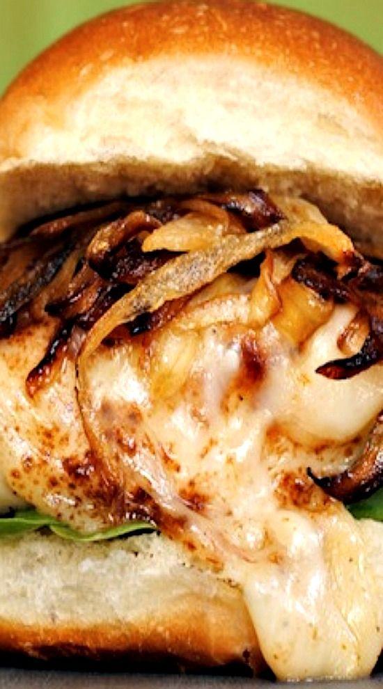 French Onion Chicken Sandwiches.