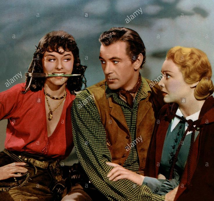 As Louvette Corbeau in Northwest Mounted Police, 1940 with Gary Cooper and Madeleine Carroll