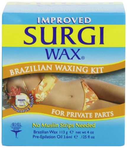 Surgi-wax Brazilian Waxing Kit For Private Parts, 4-Ounce Boxes (Pack of 3) Surgiwax http://www.amazon.com/dp/B001A43ELC/ref=cm_sw_r_pi_dp_eVz4tb137J2D1