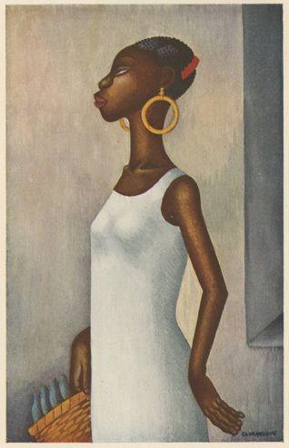 mudwerks: (por Stephen Kroninger - Covarrubius Harlem 1927) MUJER CON CESTA (Tres Mujeres Cubanas) Miguel Covarrubias