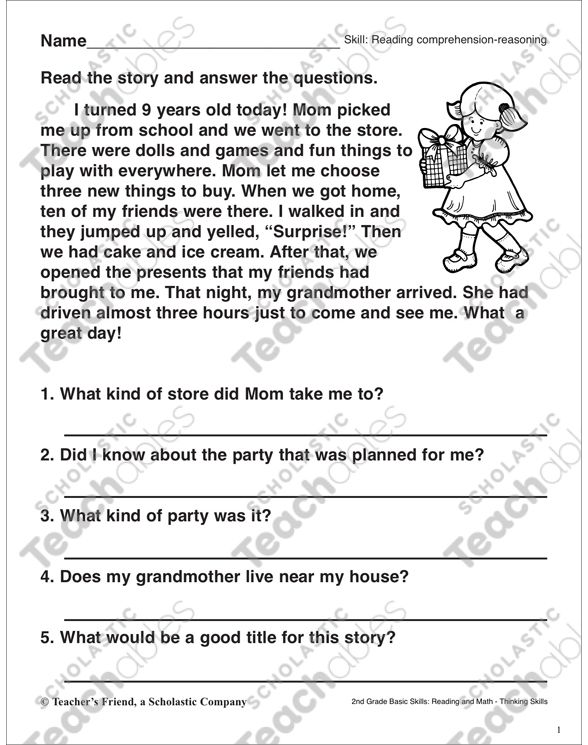 Reading Comprehension Reasoning The Best Birthday Printable Skills Reading Comprehension Reading Comprehension Worksheets Reading Comprehension Practice 4th grade story sequencing worksheets
