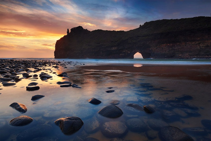 Dawn On The Wild Coast. Hole In The Wall, Wild Coast, South Africa. Photograph by Hougaard Malan