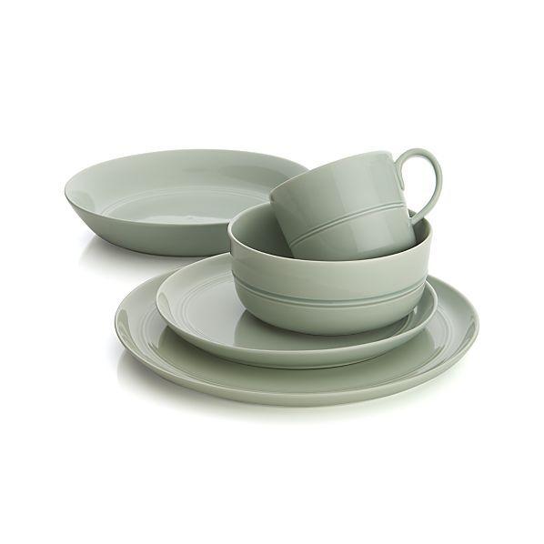 Hue Green Dinnerware  | Crate and Barrel  Green or light grey