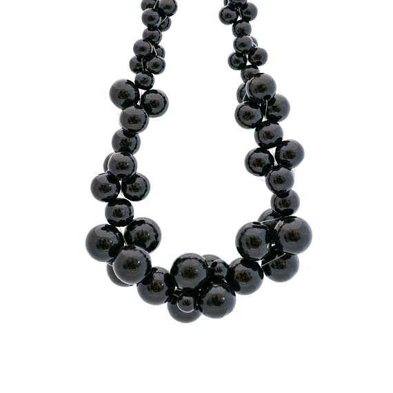 MoleCOOLs Black wooden necklace