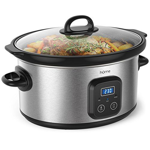 hOme 6 Quart Slow Cooker  Digital Programmable Crock Pot Slow Cooker with 10 Hour Timer Auto Shut Off and Food Warmer  Oval Crockpot Nonstick Removable Crock Stoneware and Stainless Steel Exterior Review https://bestimmersionblenderreview.info/home-6-quart-slow-cooker-digital-programmable-crock-pot-slow-cooker-with-10-hour-timer-auto-shut-off-and-food-warmer-oval-crockpot-nonstick-removable-crock-stoneware-and-stainless-steel-exterior-r/