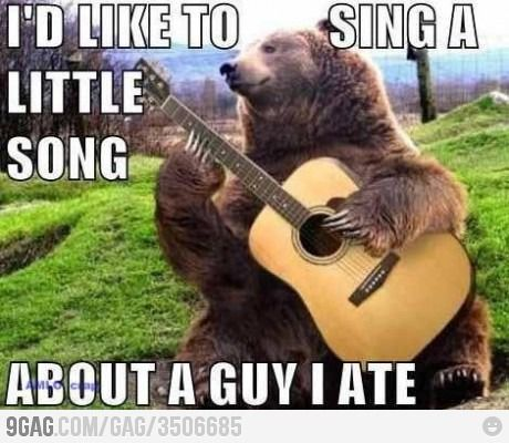 I'd like to sing a song...Laugh, Funny Pics, Funny Pictures, Funny Jokes, Bears Songs, Songs Hye-Kyo, Funny Stuff, Funny Animal, So Funny
