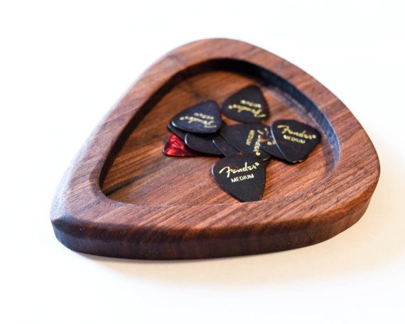 Giant Guitar Pick Holder Dish by EMhandcrafted on Etsy