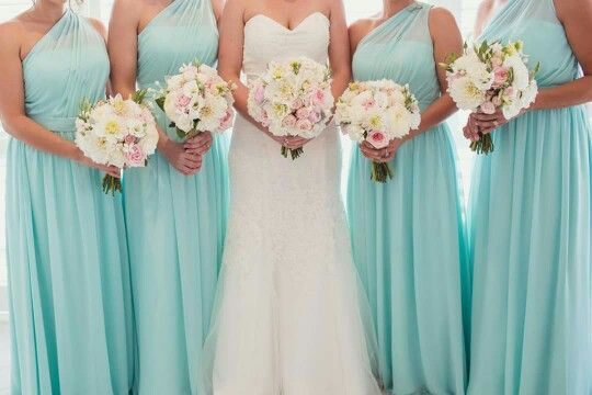Those bridesmaids dresses are perfect!