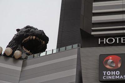 Tokyo Excess: Giant Godzilla Head at Toho Cinemas in Shinjuku