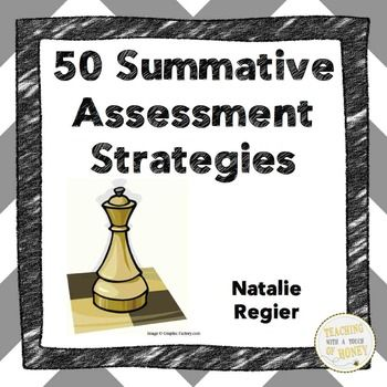 """Consider these strategies to summatively assess student learning and gather evidence of what your students know!  Book Three: Summative Assessment - 50 Ways to Gather Evidence of Student Learning provides teachers with ideas of evidence they can collect to show the curriculum mastery levels of their students."" Another useful product to use with ELLs."