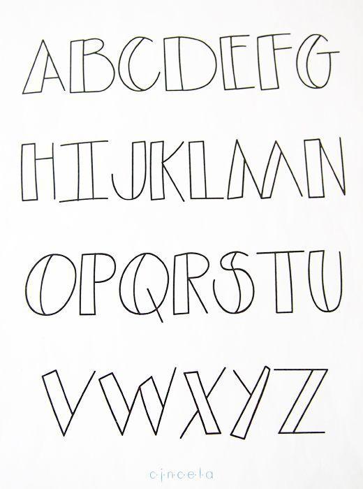 Resultado de imagen para tipo de letras para decorar - Formas de letras para decorar ...