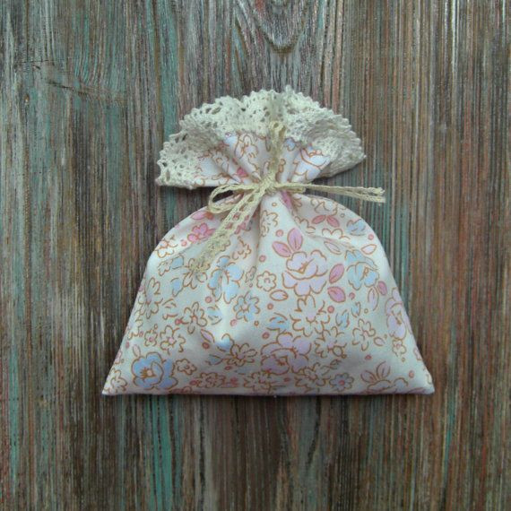 Cotton Gift Bag Handmade Bags  Favor Bags by BoutiqueSweetFloret