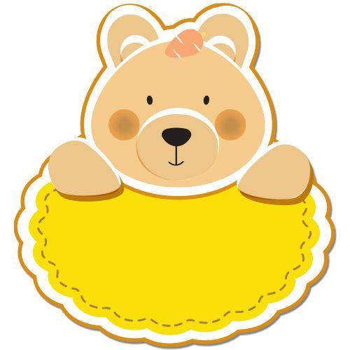 Autocolant (sticker) auto sau pentru orice suprafata neteda (geam, oglinda, aparatura electrocasnica) personalizabil ce reprezinta un Ursulet. Introduceti ce text doriti.