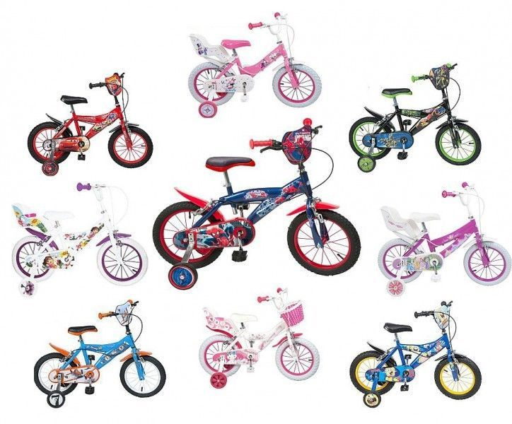 14 Zoll Disney Kinderfahrrad Kinder Fahrrad Mädchenfahrrad Jungenfahrrad Rad NUE