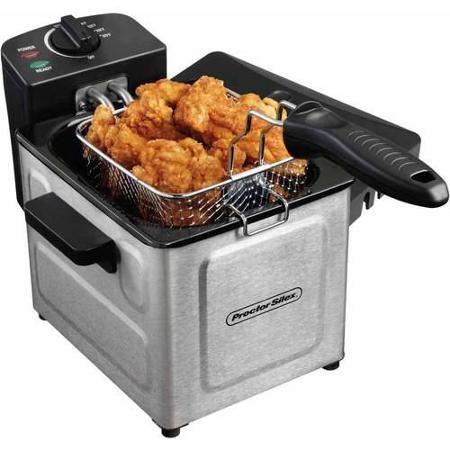 Proctor Silex 1.5 L Professional-Style Deep Fryer, Stainless Steel - Walmart.com