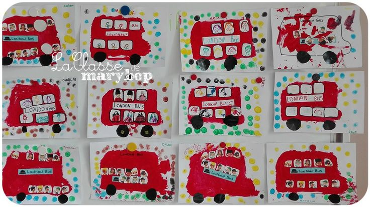 Bus à impériale Londres - Maternelle . La Classe de Marybop -                                                                                                                                                                                 Plus