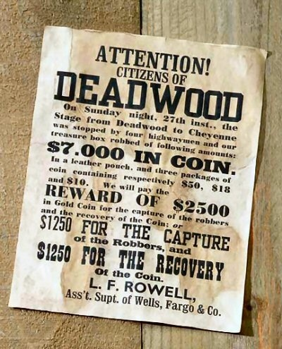 Attention! citizens of DEADWOOD Cowboy birthday, Wild