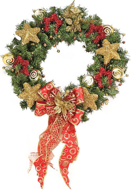 corona navidea estrellas doradas navidad adorno decoracin