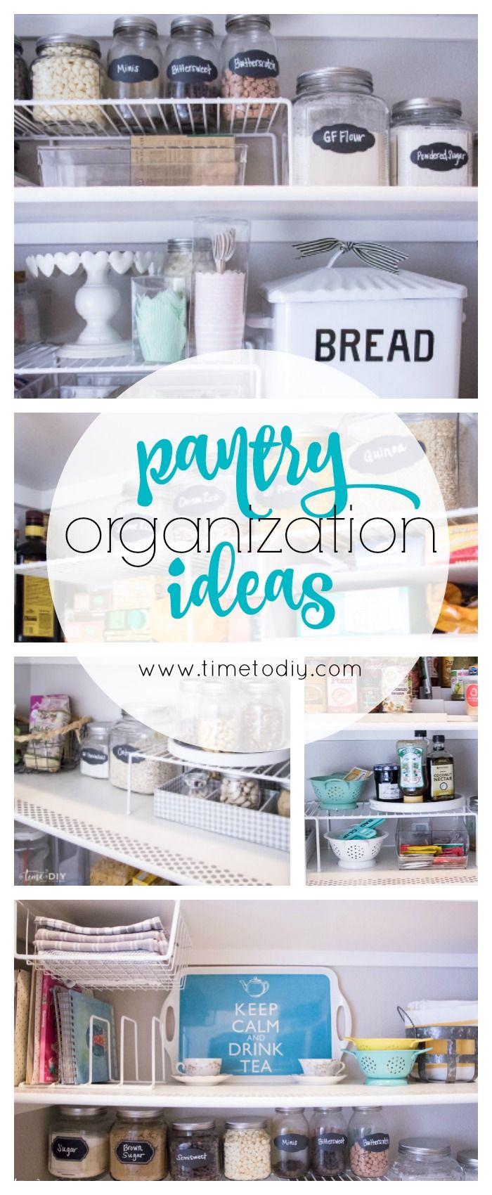 Lots of tips and links to keep your space organized!