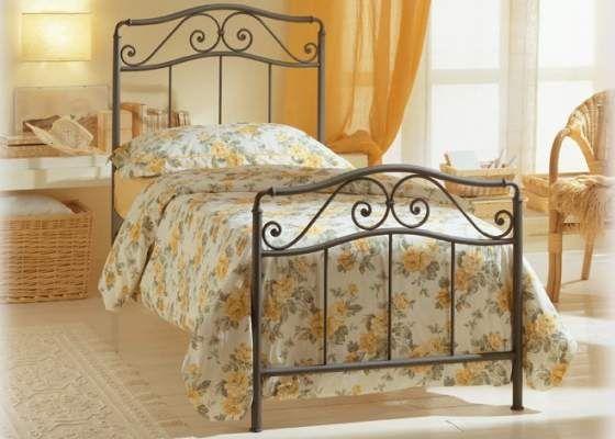 Peniscola ( meer info : klik op foto ) - Bed 100cm /120cm breed - BEDDEN op bestelling - Bedden : Metalen bedden en ijzeren ledikanten
