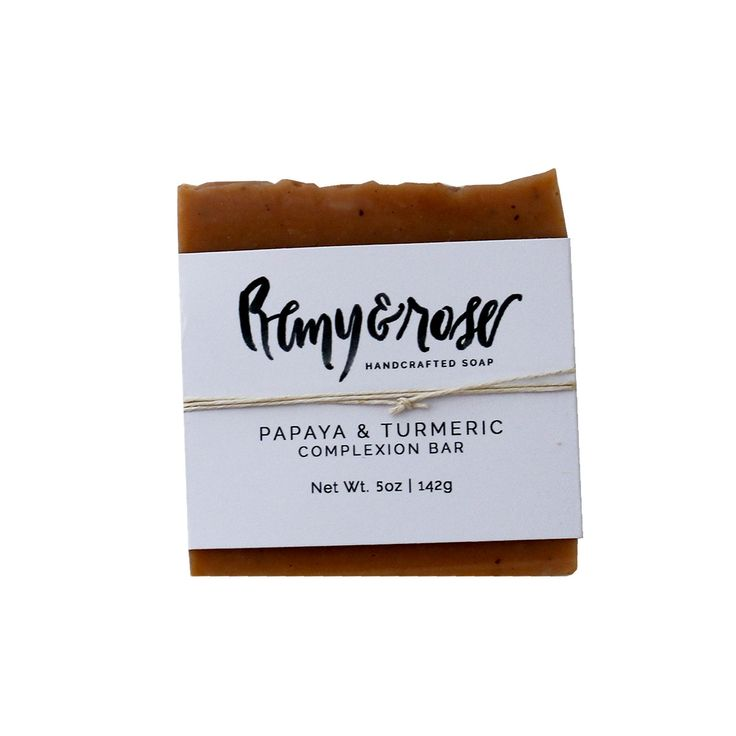 Papaya Turmeric Bar Soap by Remy and Rose is a wonderful addition to their complexion line formulated to promote soft, supple and smooth skin. This bar soap is great for the body as well. Key Ingredie