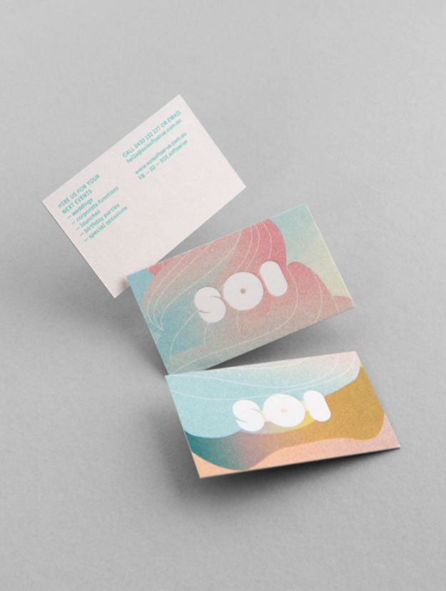 Design Corporate Design Business Cards Soi Soft Serve