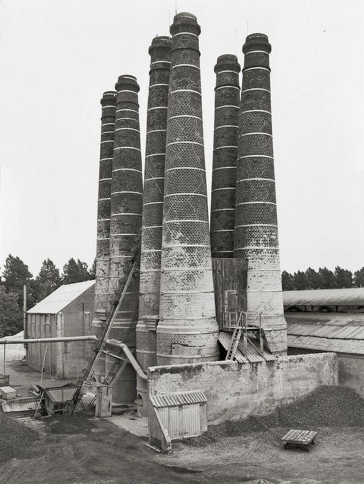 Lime Kilns | Bernd & Hilla Becher | Brielle, Holland (1968) #industrialchimney #industrialarchitecture