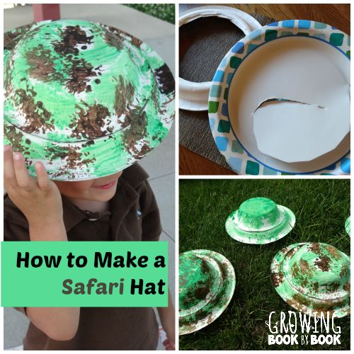 How to make a safari hat is perfect for using with the book, We're Going on a Lion Hunt!