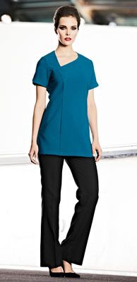 Select Scooped Angle Neckline Tunic, Teal