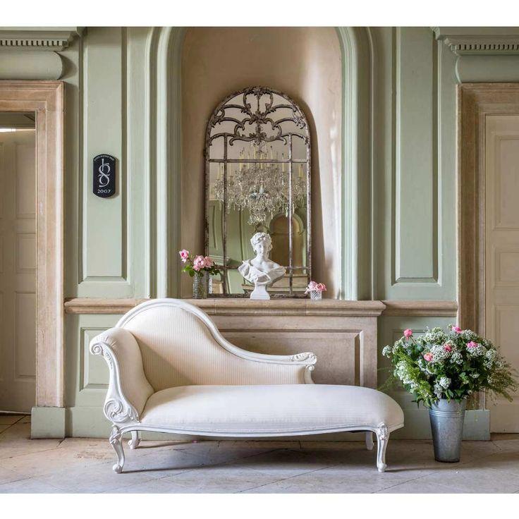 provencal white chaise longue