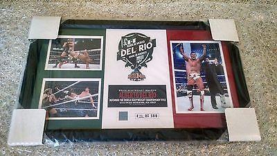 ALBERTO DEL RIO WWE WRESTLEMANIA 29 XXIX NY/NJ WORLD CHAMPIONSHIP WINNERS PLAQUE