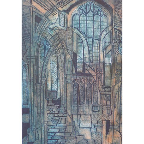 Gallery of Laurie Rudling - Aquatint Etchings, Collagraphs and Original Prints East Window by Laurie Rudling