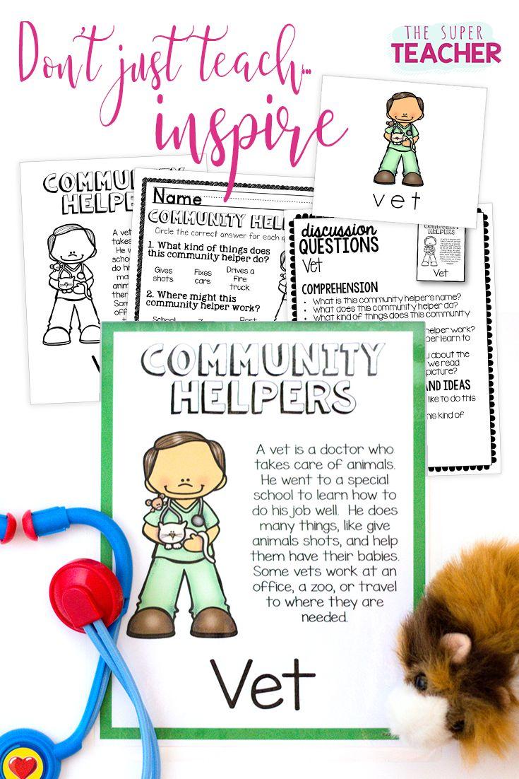 Worksheets Teacher Helper Worksheets 421 best the super teacher tpt images on pinterest animal babies community helpers unit for preschool and kindergarten