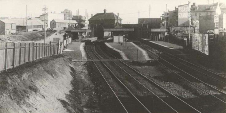Newtown Railway Station in the inner west suburb of Sydney in 1900.