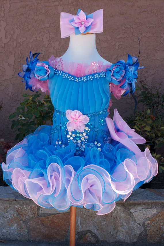 Beautiful cupcake glitz pageant dress by MissMadisonDesigns