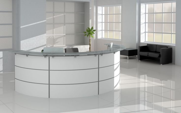 Modern Office Furniture Reception Desk Classy Design Ideas